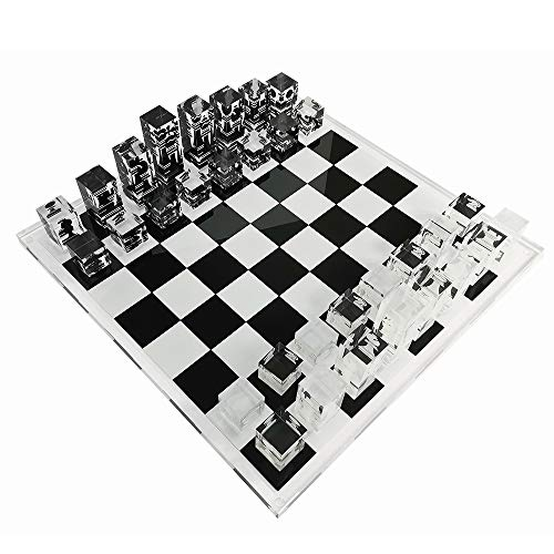 INFINITY 17.3' Lucite Acrylic Chess Set Luxury, Professional and Premium Quality