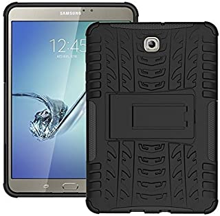 DWAYBOX Case Tab S2 8.0 T710 Hybrid Armor Design with Stand Stand Feature Detachable Double Layer غطاء خلفي صلب لجهاز Sams...