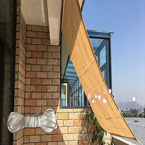 Sombra Solar Malla Patio/Toldo/Cubierta de Ventana, 90% Bloqueador Solar Malla de Jardín HDPE, Paño de Sombra Solar con Ojales para Pérgola o Cenador, Beige (Size : 2x5m)