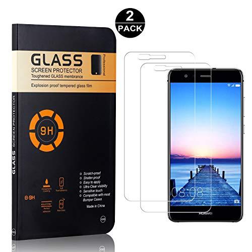 Nessuna Bolla Bear Village/® Huawei P9 Lite Vetro Temperato 2 pezzi HD Trasparente Anti-Impronte 9H Durezza Pellicola Protettiva in Vetro Temperato per Huawei P9 Lite