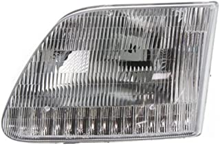 Headlight Assembly Compatible with 1997-2002 Ford Expedition Halogen CAPA Driver Side
