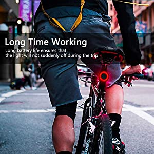 ZWOOS Luz Trasera Bicicleta, Luz traseras de Ciclismo LED Alto Brillo, Recargable por USB, Inducción de Freno Inteligente, 6 Modos, IPX6 Impermeable