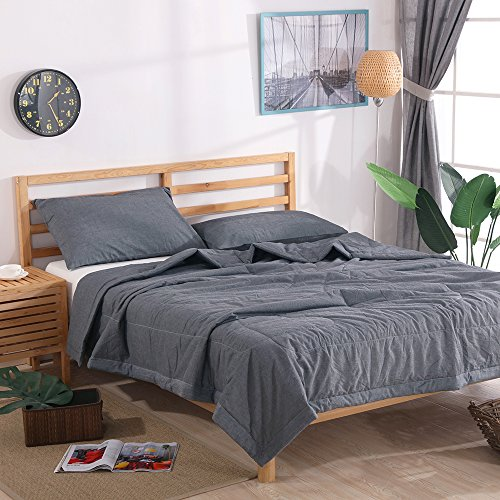 NTCOCO 3 Piece Comforter Set Thin Quilt Lightweight Comforter