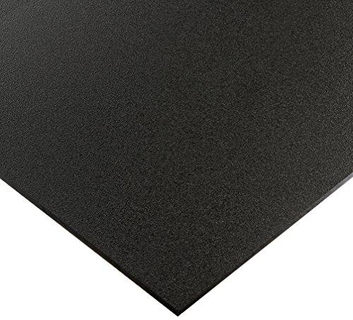"Vycom 906686 Seaboard High Density Polyethylene Sheet, Matte Finish, 1/4"" Thick, 12"" Length x 36"" Width, Black"