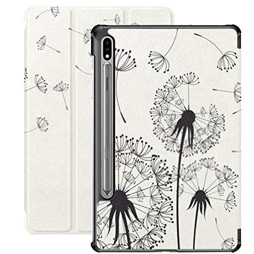 Funda para Galaxy Tab S7 Funda Delgada y Liviana con Soporte para Tableta Samsung Galaxy Tab S7 de 11 Pulgadas Sm-t870 Sm-t875 Sm-t878 2020 Release, Abstract Dandelion Dandelion Flying Seeds On