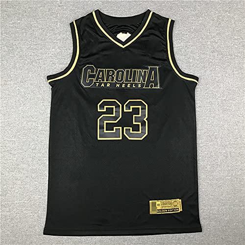 LYY Jerseys De Baloncesto para Hombres, NBA Chicago Bulls # 23 Michael Jordan - Ropa Deportiva Clásica Camiseta Sin Mangas, Tops De Confort Tops Uniformes,Negro,XL(180~185CM)