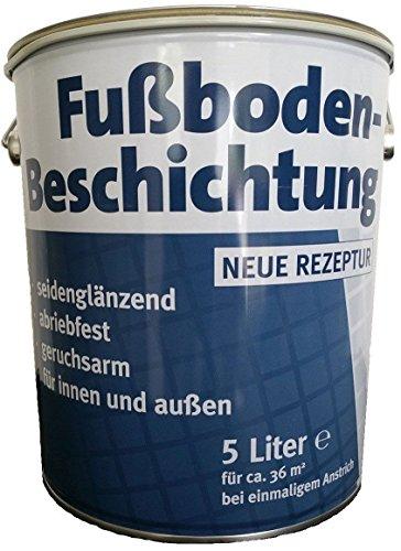 Meffert Fußboden Beschichtung Silbergrau (RAL 7001) Seidenglänzend 5 L
