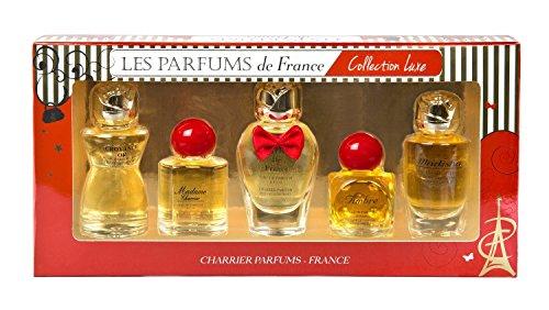 Charrier Parfums Les Parfums de France, Collection Luxe, Coffret De 5 Eaux de Parfum Miniatures, Floral, 49, 7 ml