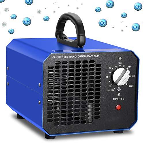 Generador de Ozono, 10000 mg / h Dispositivo de ozono, purificador de Aire de Ozono con Temporizador, para Habitaciones, Garajes, Granjas, hoteles, Elimina el Humo/el Olor de Mascotas/Contaminante