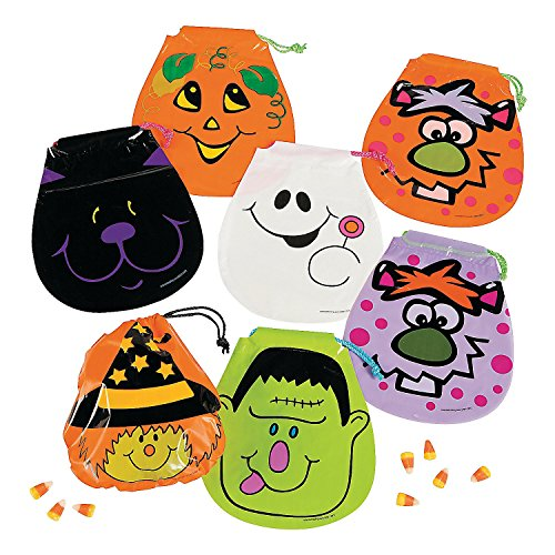 Halloween Drawstring Goody Bags (6dz) for Halloween - Party Supplies - Bags - Plastic Bags - Halloween - 72 Pieces