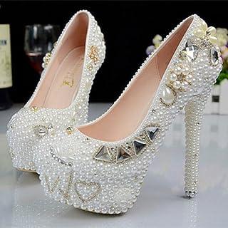 descuento de ventas JINGXINSTORE Boda blancoa hecha a mano de la boda de de de la bola del zapato del club de noche del alto talón  elige tu favorito