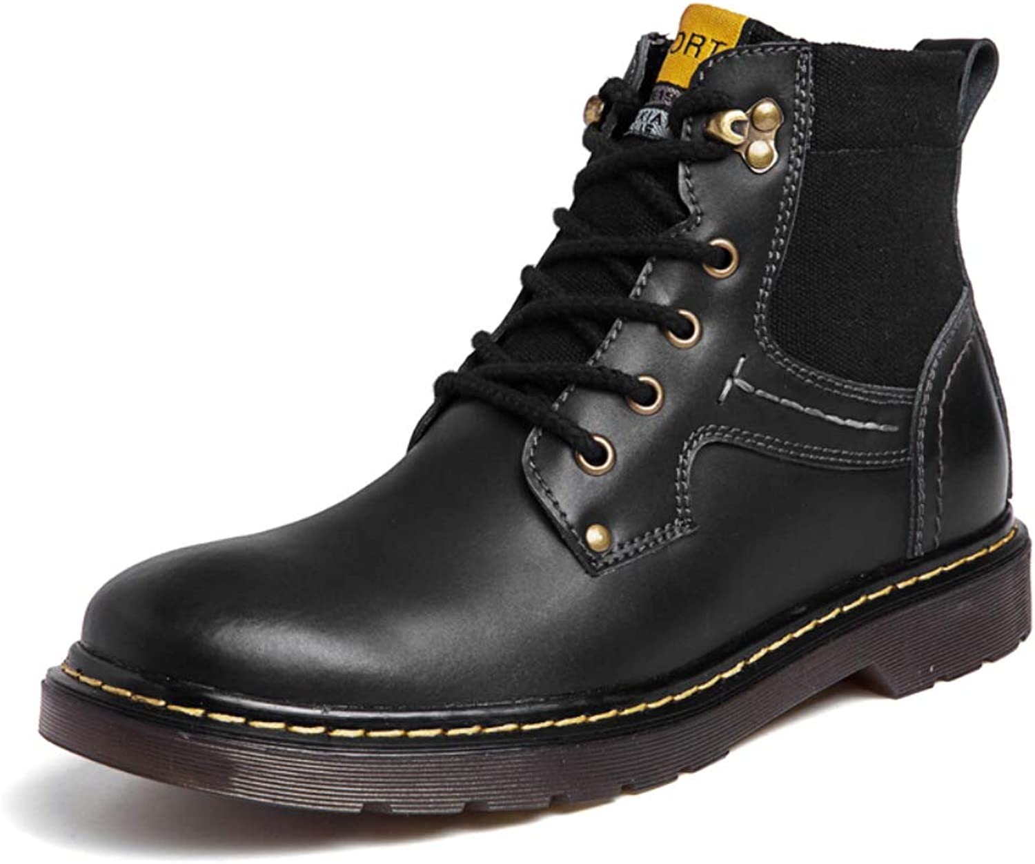 Men's Boots Zackery Classic Ankle Boots Winter Fur Lined Black Oxford Boots