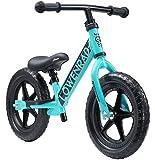 LÖWENRAD Bicicleta sin Pedales para niños y niñas a Partir de 3 - 4 año, Bici 12' Ligero (3KG) con sillín y manubrio Regulable, Turquesa
