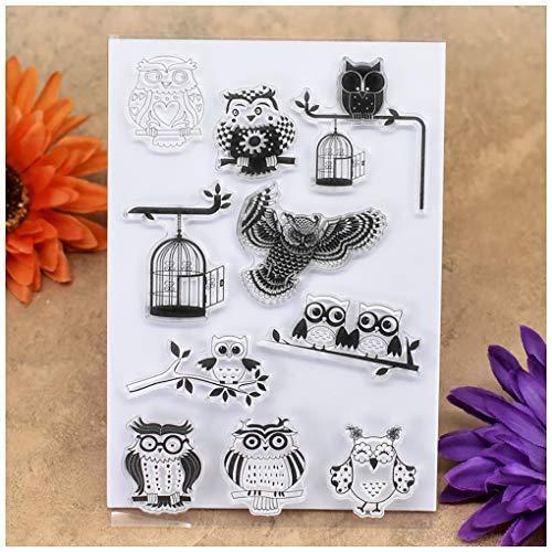 Kwan Crafts Eule Vogelkäfig, klare Stempel zum Basteln von Karten, Dekoration und DIY Scrapbooking