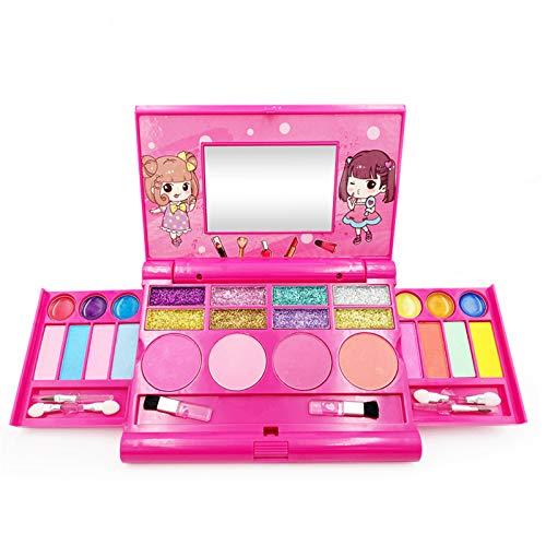 Mcinios Maquillage Enfant Fille Bio Lavable, boîte de Palette de Maquillage pour Enfants idéale, Cadeau de Maquillage Princesse Fille,Très approprié pour Les Filles âgées de 5 à 10 Ans
