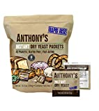 Anthony's Instant Dry Yeast Packets, Contains 42 Individual Packets, Gluten Free