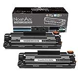 NoahArk Compatible CE278A 78A Cartucho de tóner Reemplazo para HP Laserjet P1606DN Toner Canon i-Sensys LBP6230DW LBP6200D P1566 M1536 MFP M1536DNF P1560 P1606 Canon LBP6200dw LBP6230d (2 Negro)