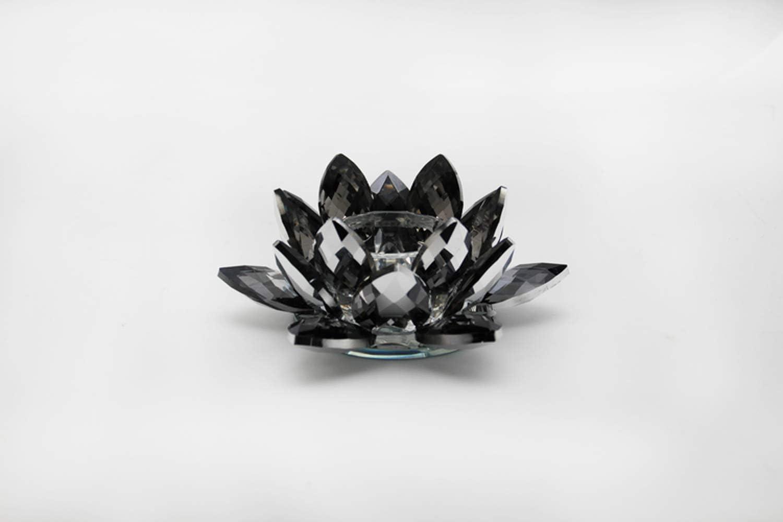 Housewares Collections Black Lotus Crystal Candle Hold Tea お買い得 Light 信頼
