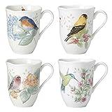 coffee cup bird - Lenox 882795 Butterfly Meadow Flutter Mugs, Set of 4