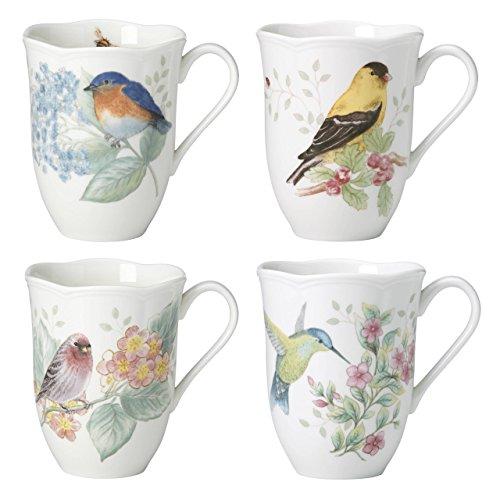 Lenox Butterfly Meadow Flutter Mugs, Set of 4, Multicolor