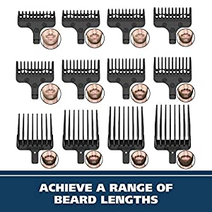 Wahl Stainless Steel Lithium Ion 2.0+ Slate Beard Trimmer for Men - Electric Shaver, Nose, Ear Trimmer, Rechargeable All In One Men's Grooming Kit - Model 9864SS