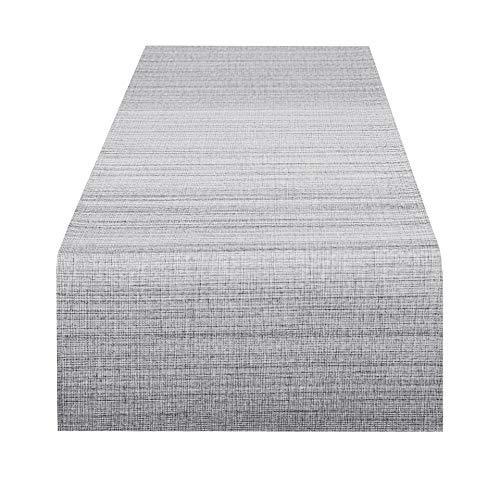 Delindo Lifestyle Tischläufer Samba, grau, 40x140 cm, Fleckschutz, abwaschbar, für Indoor und Outdoor