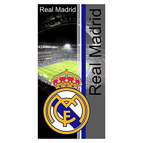 Real Madrid RM11. Toalla de baño y playa de Algodón 100% de 150x75 cm. Licencia Oficial.