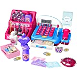 Cash Register Toy Sets -Shopping Makeup Toys Cash Registerwith 13 Kinds of Pretend