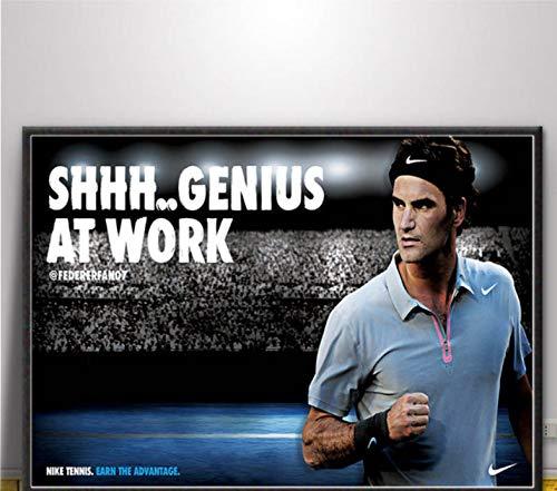 Poster Und Drucke Federer Tennis Sport Player Star Poster Wandkunst Bild Leinwand Malerei Für Wohnzimmer Wohnkultur 42X60 cm Ohne Rahmen