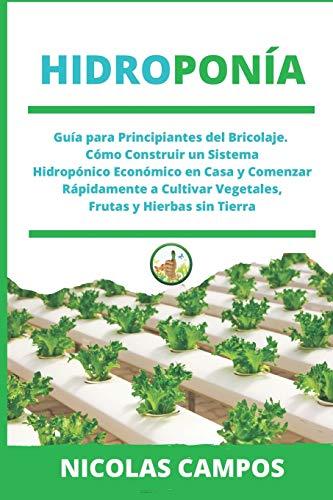 HIDROPONÍA: Guía para Principiantes del Bricolaje. Cómo Construir un Sistema Hidropónico Económico en Casa y Comenzar Rápidamente a Cultivar Vegetales, Frutas y Hierbas sin Tierra