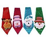 Toyvian 4pcs Weihnachten Pailletten Krawatte Cartoon Weihnachten Krawatte Weihnachten dekorative Krawatte Kleidung Zubehör für Kinder Erwachsene