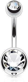 PunkJewelry Piercing per ombelico in titanio Duo