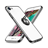 Sitikai iPhone SE ケース[第2世代]【2020年新型】 iPhone7/8 ケース スマホケース リング 指紋防止 半透明 マットメッキ加工 ソフトTPU SGS認証 黄ばみなし 車載ホルダー対応 ストラップホール付き アイフォン SE/7/8専用カバー ブラック