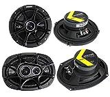 2) Kicker 41DSC654 6.5' 240W 2-Way + 2) 41DSC6934 6x9' 360W 3-Way Car Speakers