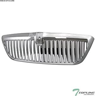 Topline Autopart Chrome Vertical Front Hood Bumper Grill Grille ABS For 98-02 Lincoln Navigator / 2002 Blackwood