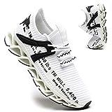 Kapsen Women's Running Shoes Non Slip Athletic Tennis Walking Blade Type Sneakers Fashion Gym Sports Shoes White