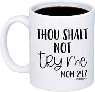 mommy finger coffee mug