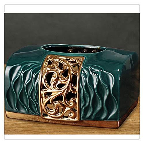 DFSDG Caja de Almacenamiento de Caja de Tejido Cuadrado Creativo Dispensador de Cajas de Tejido de dispensador Toalla de baño Caja de Toalla de baño Seda Caja de Limpieza (Color : Green)