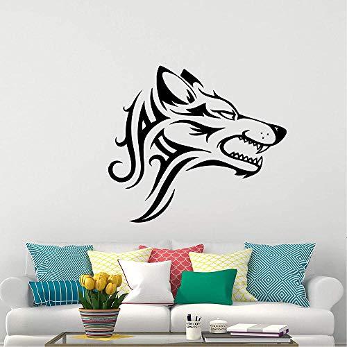 Calcomanías de pared de lobo animales del bosque pegatinas de vinilo naturales para niños niñas dormitorio decoración de la ventana decoración inspiradora 45X68CM