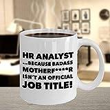 N\A aza de Analista de recursos Humanos Taza de café Regalos para rudo Gerente de recursos Humanos de recursos Humanos Jefe de Oficina de recursos Humanos