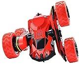 Joy-Jam Regalos para 5-12 Años Muchachas Coche Teledirigido 4x4 Coche RC, 2.4GHz Coche Radiocontrol Truco, Rotación 360° Tractor RC Regalos para Niños Adulto Rojo