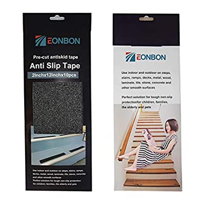 Hylaea Anti Slip Tape Black, 2 Inch x 16.4 Feet Non Slip Safety Tape, Grip Traction Tape, Black, Abrasive Non Slip Tape for Floor, Stairs, Steps, Indoor or Outdoor
