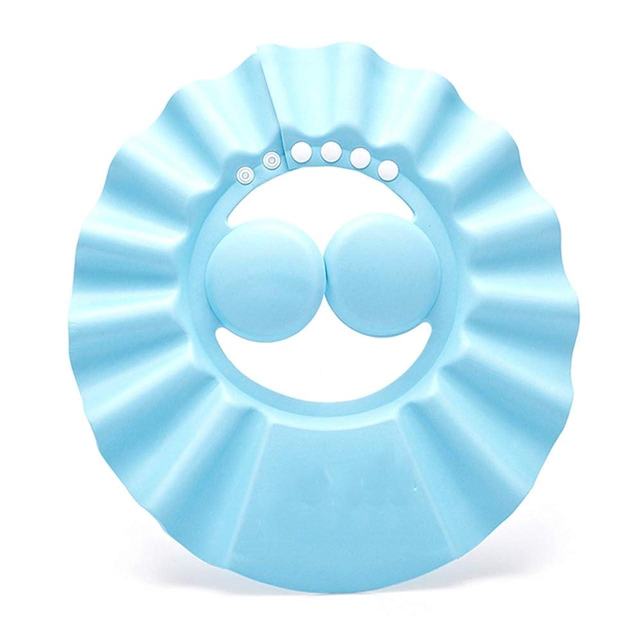 耐える思いやり浜辺Zhenxinshiyi ベビーパッド入り防水イヤープロテクターベビーシャンプーキャップ子供用シャワーキャップ調節可能なサイズ3色はEVA素材を選択できます安全で柔らかく快適です (Color : Blue)