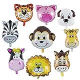 Wolintek 9 Piezas Globos Animales Cumpleaños, Globos Animales Helio - Helio está Permitido, Decoración de la Fiesta de Cumpleaños de los Niños (Tamaño: 30-50 cm)