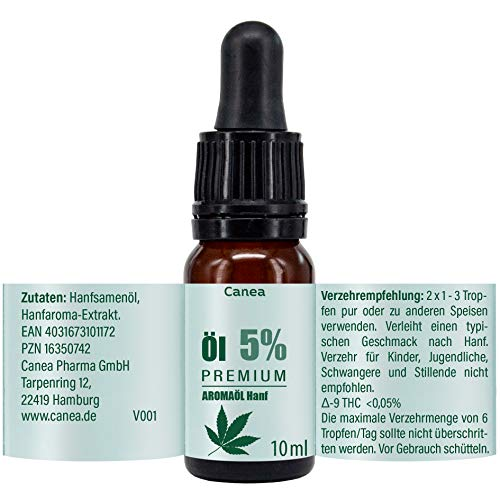 5% Premium Aroma Öl mit natürlichen Zutaten, vegan, Made in Germany, 10 ml Tropfen