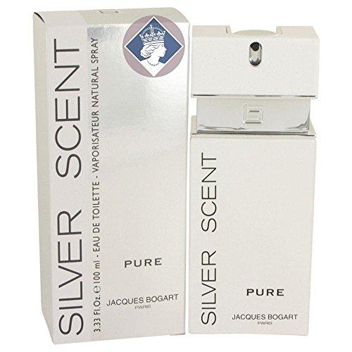 Jacques Bogart Silver Scent Pure 100ml/3.33oz Eau de Toilette Men Cologne Spray