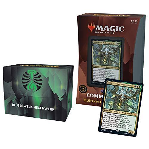 Magic: The Gathering Strixhaven-Commander-Deck– Blütenwelk-Hexenwerk (Schwarz-Grün) -Deutsche Version