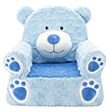 Animal Adventure | Sweet Seats | Blue Bear Children's Plush Chair, larger :14' x 19' x 20'