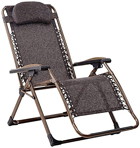 Tumbona Plegable, Suela plegable portátil de la tumbona con reposacabezas, silla para adultos caseros, silla de salón de almuerzo de oficina, silla de playa de camping al aire libre, negro, carga 200