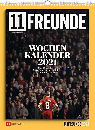 11 Freunde Wochenkalender 2021: Die 52 schönsten Cover aus 20 Jahren Fußballkultur